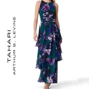 NWT Tahari ASL size 16 floral maxi dress